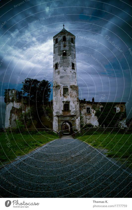 Hohenegg Wolken Wand Wege & Pfade Mauer Turm Burg oder Schloss Verfall Unwetter Tor Ruine Gewitter Zerstörung