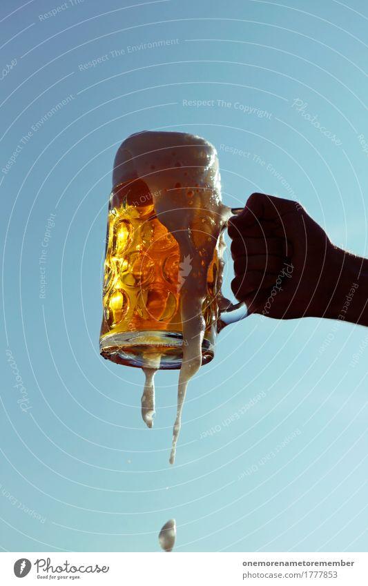 Oktoberfest - Prost! Sommer Lifestyle Kunst Freizeit & Hobby ästhetisch Gold Getränk lecker festhalten Bier München Bayern Alkohol Alkoholisiert Durst Schaum