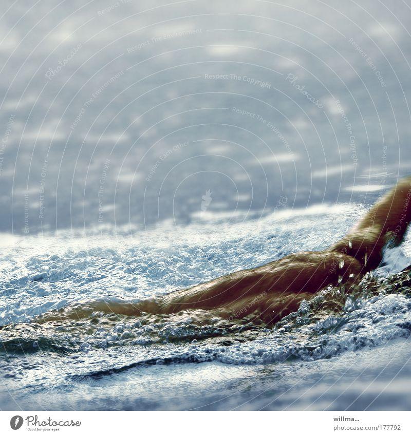 kraulknappe Wasser Ferien & Urlaub & Reisen Sommer Meer Erholung kalt Sport Bewegung Gesundheit Wellen Rücken Freizeit & Hobby Schwimmen & Baden maskulin