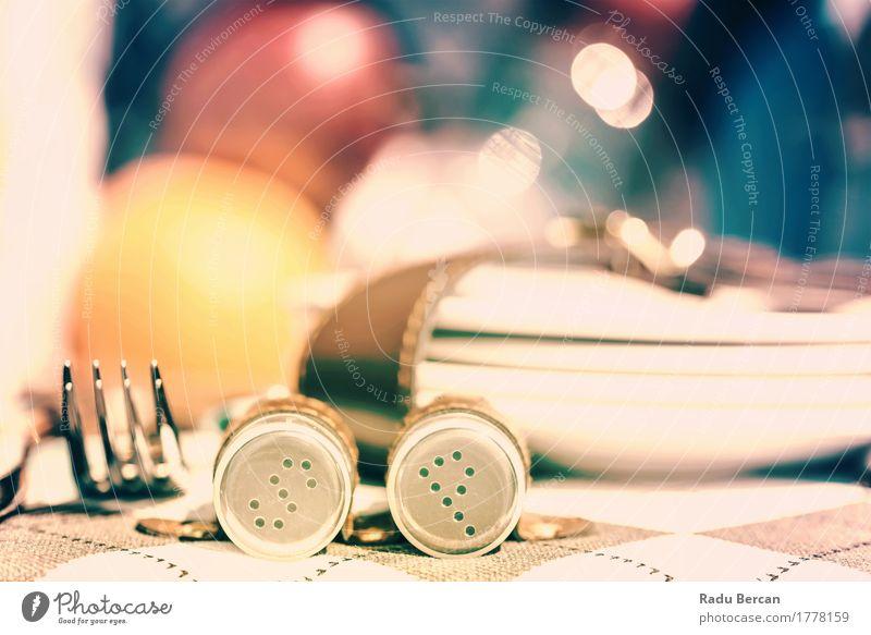 Salz und Pfeffer mit Besteck im Picknickkorb Lebensmittel Frucht Apfel Orange Ernährung Essen Mittagessen Abendessen Gabel Ferien & Urlaub & Reisen Sommer