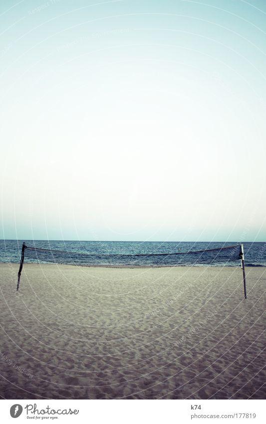 ocata Netz Strand Volleyball Sport Meer See Sand Horizont Menschenleer Landschaft