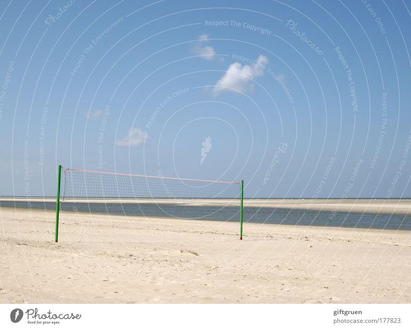 temps perdu Himmel Ferien & Urlaub & Reisen Sonne Meer Sommer Strand Freude Einsamkeit Sport Spielen Freiheit Küste Freizeit & Hobby Insel Ball Netz