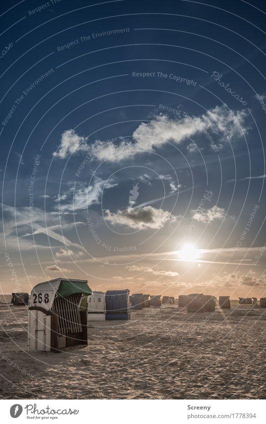 Feierabend Himmel Ferien & Urlaub & Reisen Sommer Sonne Meer Erholung Wolken ruhig Strand Küste Tourismus Ausflug Schönes Wetter Abenteuer Sommerurlaub