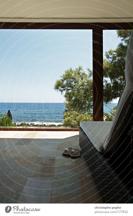 Spa-Bereich Ferien & Urlaub & Reisen Sonne Sommer Meer ruhig Erholung Küste Zufriedenheit Wellen liegen ästhetisch Pause Wellness Schwimmbad rein Gelassenheit