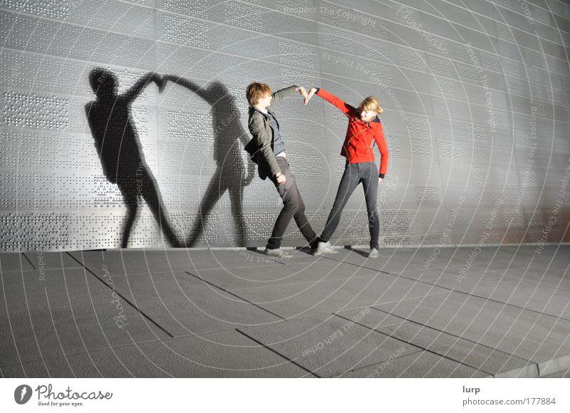 That beating Heart Mensch Jugendliche Freude Frau Liebe feminin Gefühle Bewegung Glück Paar Mann Herz Erwachsene maskulin Fröhlichkeit