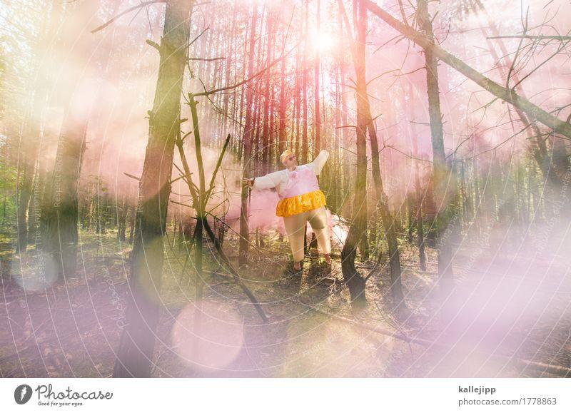 märchenprinz xxl Stil Mensch maskulin Mann Erwachsene 1 45-60 Jahre Umwelt Natur Landschaft Sommer Baum Wald Bekleidung leuchten König Prinz XXL dick Fett Rauch