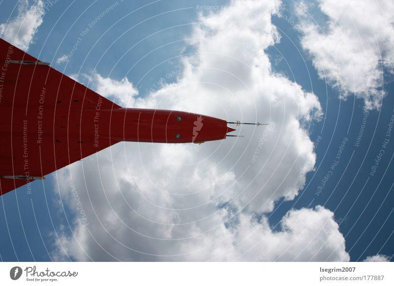 Fernweh Himmel weiß Sonne blau Sommer Ferien & Urlaub & Reisen Wolken Ferne Erholung Stil Freiheit träumen Luft Flugzeug Wetter Horizont