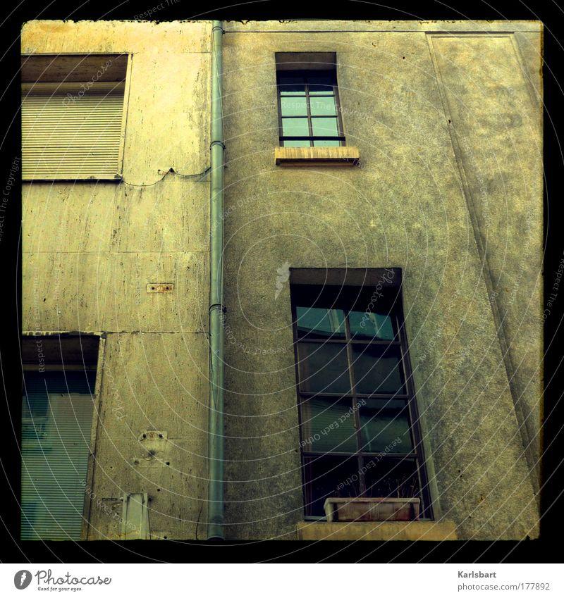 house. of the rising sun. alt Stadt Haus Einsamkeit Wand Fenster Mauer Gebäude dreckig Architektur Design verrückt Fassade Lifestyle Fabrik
