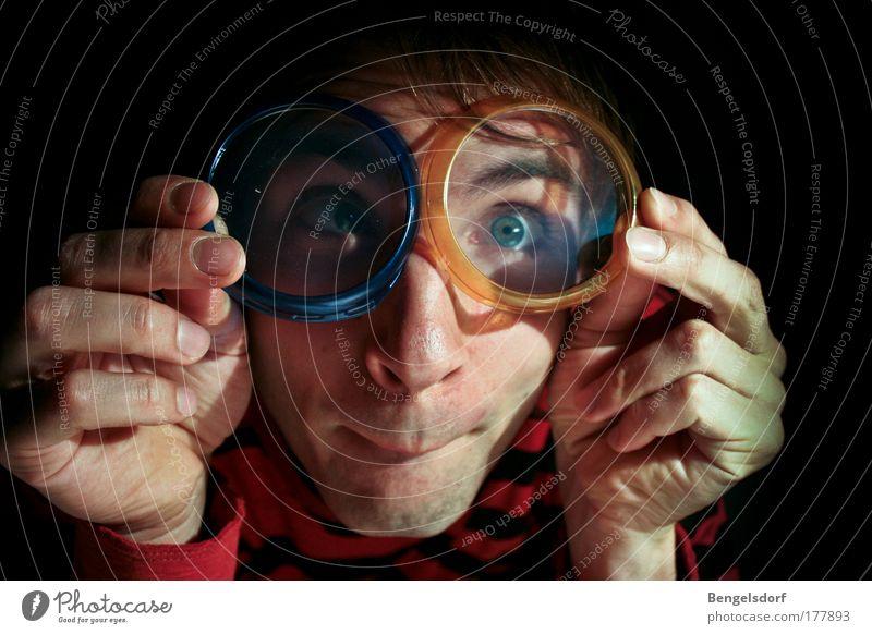 Wunderwelt Wissen Mensch Jugendliche Auge Erfolg Studium Perspektive Zukunft Brille Bildung Neugier beobachten Student Wissenschaften Schüler Karriere