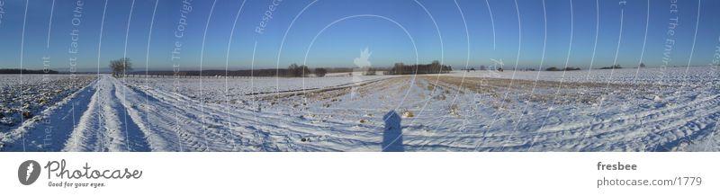 winter Winter kalt pano Schnee blau Sonne