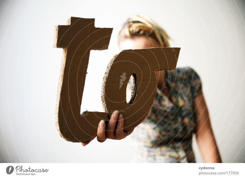 . do list Mensch Frau Erwachsene Leben Freiheit Design ästhetisch Schriftzeichen einzigartig Kommunizieren Bildung Kreativität Idee entdecken Typographie