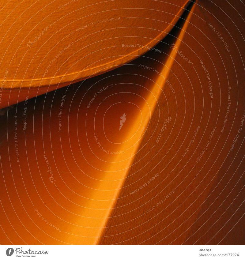 1 Stil Linie orange Metall Architektur Design elegant abstrakt ästhetisch rund einfach Sauberkeit Grafik u. Illustration Bogen minimalistisch Farbverlauf