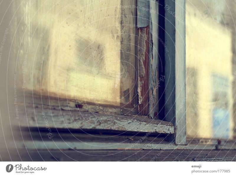Fenster zur... Haus gelb Wärme Fabrik Fensterscheibe Industrieanlage Altbau