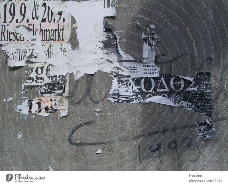1993 Wand Plakat Fetzen Typographie Dinge Wildtier Dynamik