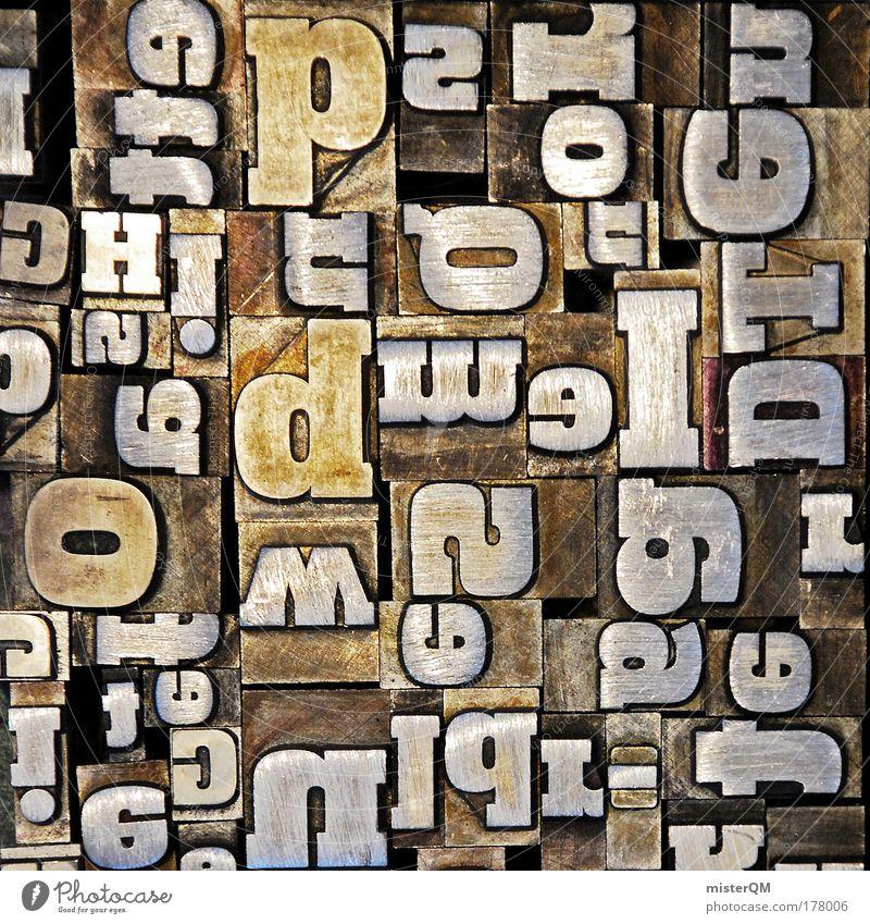 Buchstabensalat. Muster Denken Kunst Inspiration Design Makroaufnahme Maschine Schriftzeichen Buchstaben Kommunizieren abstrakt Kreativität Grafik u. Illustration Idee Zeichen Typographie