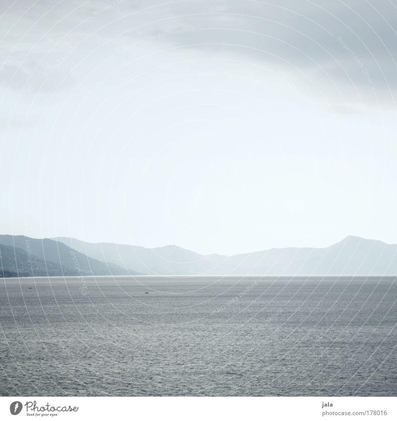 silence Wasser Meer ruhig Ferne Berge u. Gebirge Landschaft hell Küste Horizont