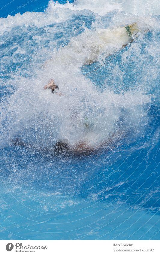 Splash Sport Wassersport Schwimmen & Baden Surfen Surfer Surfbrett ästhetisch außergewöhnlich Flüssigkeit blau Sturz Momentaufnahme Wellen spritzen