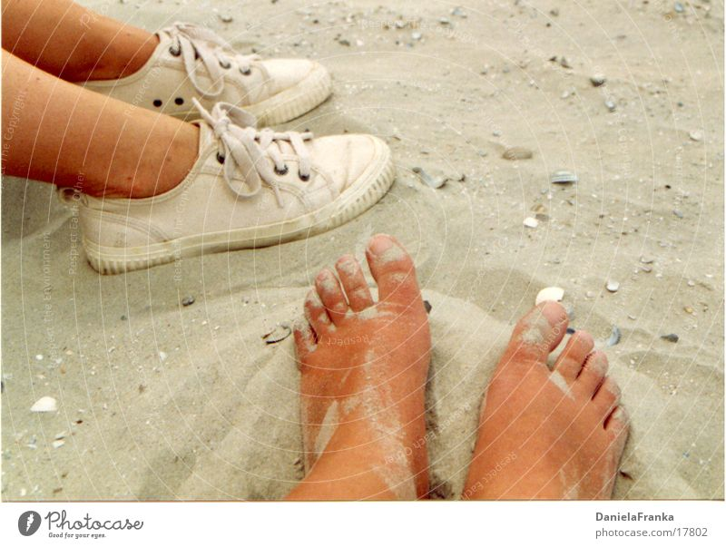 S(tr)andgefühl Mensch Sommer Strand Erholung Fuß Sand Küste Turnschuh Barfuß Norderney