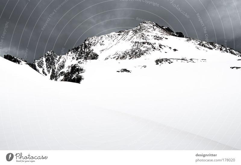 Ruhe Himmel Wolken kalt Schnee oben Berge u. Gebirge Eis Nebel Wetter laufen Erfolg groß Felsen hoch Frost Ziel