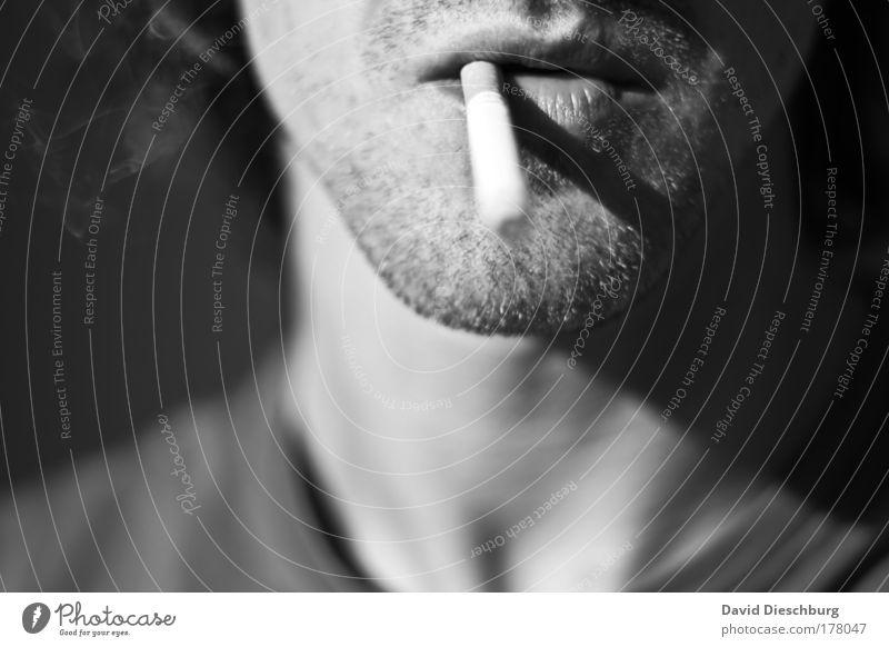 Nebelproduktionsanlage Schwarzweißfoto Tag Licht Schatten Kontrast Sonnenlicht Zentralperspektive Mensch maskulin Junger Mann Jugendliche Erwachsene Haut Kopf