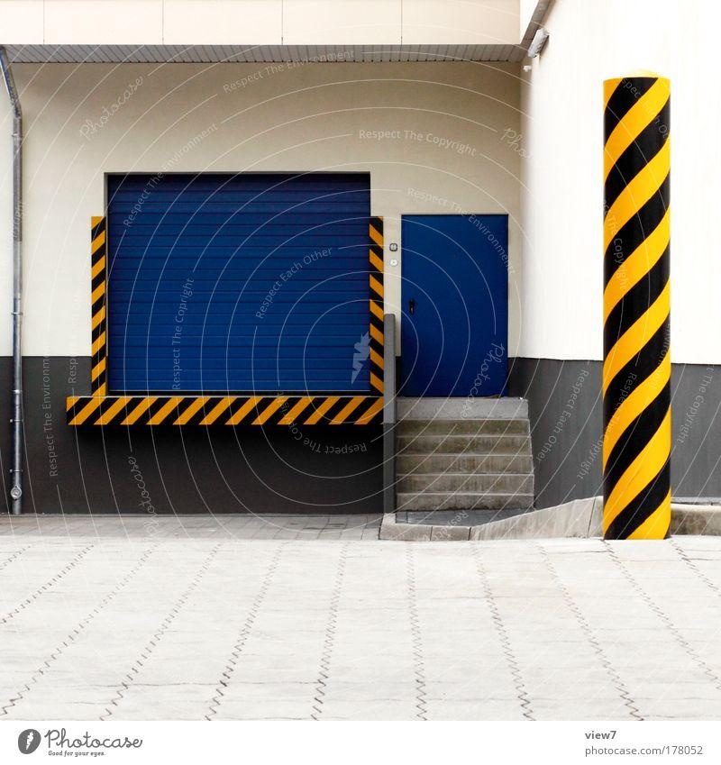 Nachschub gelb Straße Stein Metall Linie Schilder & Markierungen Verkehr groß ästhetisch neu Coolness Streifen gut einzigartig Hinweisschild