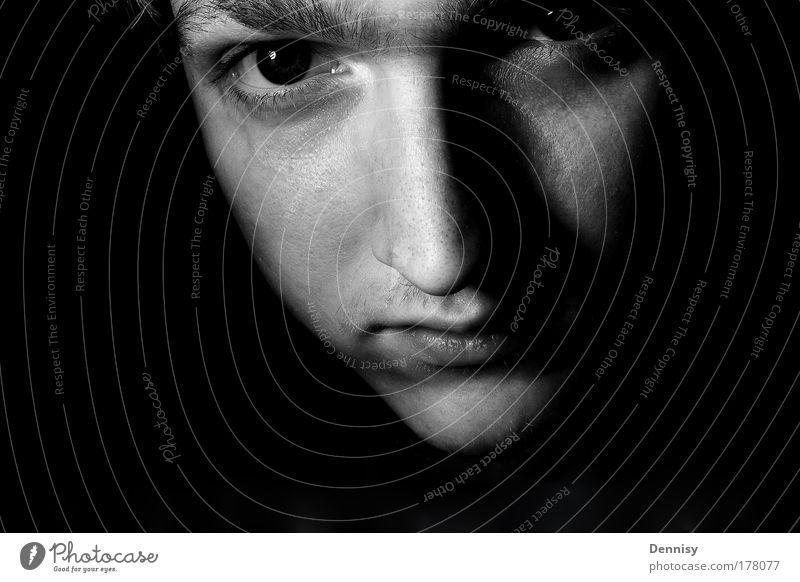 Anfang Mensch Jugendliche Erwachsene Gesicht Ferne Auge Gefühle Haare & Frisuren Kopf außergewöhnlich natürlich 18-30 Jahre Mund maskulin Nase Coolness