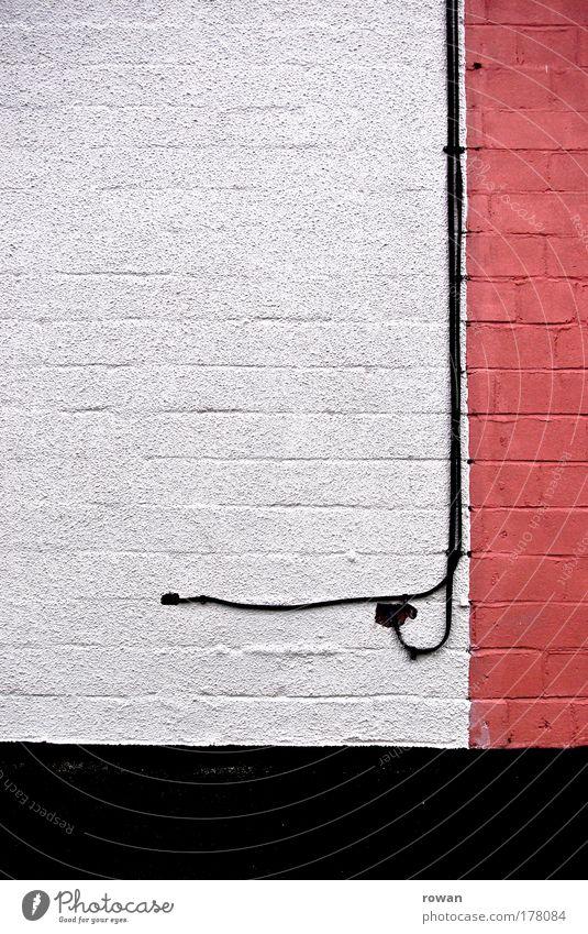 _| weiß rot Haus Farbe Wand Mauer Gebäude Linie Architektur Fassade Elektrizität Kabel Backstein Bauwerk Einfamilienhaus