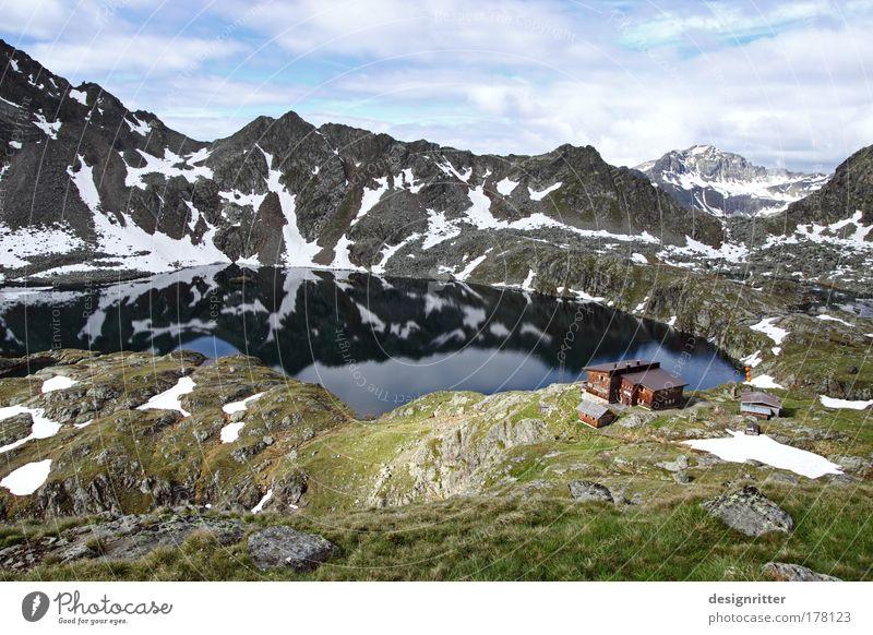 Weitblick Natur Ferien & Urlaub & Reisen ruhig Einsamkeit Ferne Erholung oben Berge u. Gebirge Freiheit träumen Kraft wandern Erfolg groß Felsen hoch