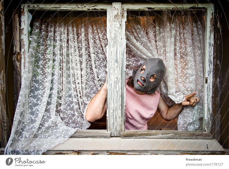 good morning absurdistan Mensch Mann Erwachsene träumen Kunst Angst elegant maskulin verrückt außergewöhnlich bedrohlich einzigartig Maske Kreativität skurril