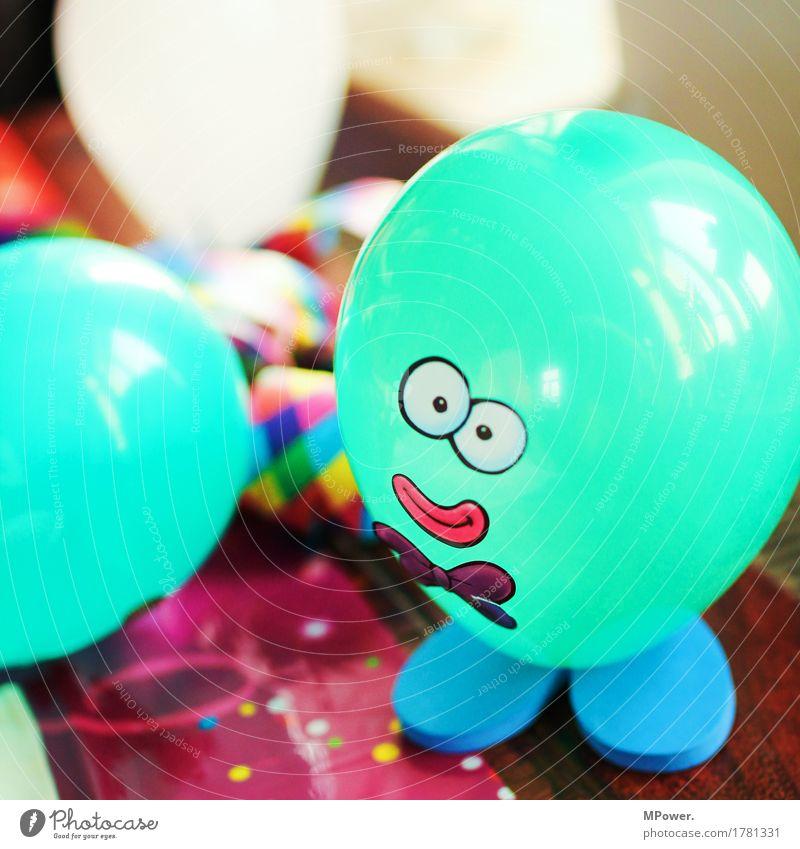 mr.ballon Kindergeburtstag Kinderfest Luftballon Ballone türkis Basteln Gesicht Figur Feste & Feiern Party Partygast mehrfarbig Farbe Farbstoff Auge Frauenmund