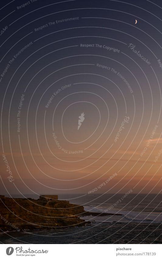 100 und 1 Nacht schön Meer Küste Horizont Romantik Nachthimmel Mond Sachsen Abenddämmerung Portugal Klippe Festung Elbsandsteingebirge Sächsische Schweiz Bastei