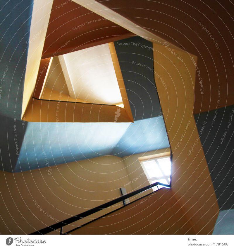 Klangfarben   Schachteljazz Kunstwerk Haus Architektur Treppenhaus Treppengeländer ästhetisch außergewöhnlich elegant trendy modern Lebensfreude beweglich