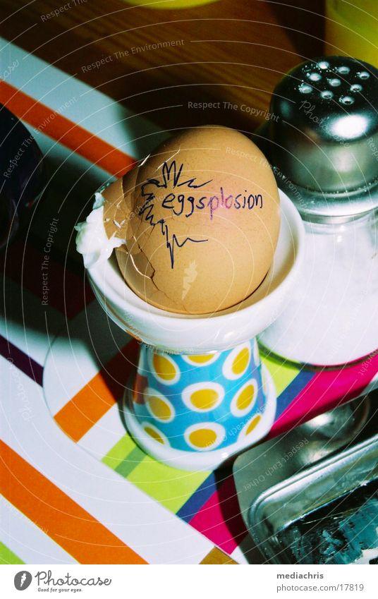 Eggsplosion Ernährung Tisch obskur Frühstück Ei Explosion Mahlzeit