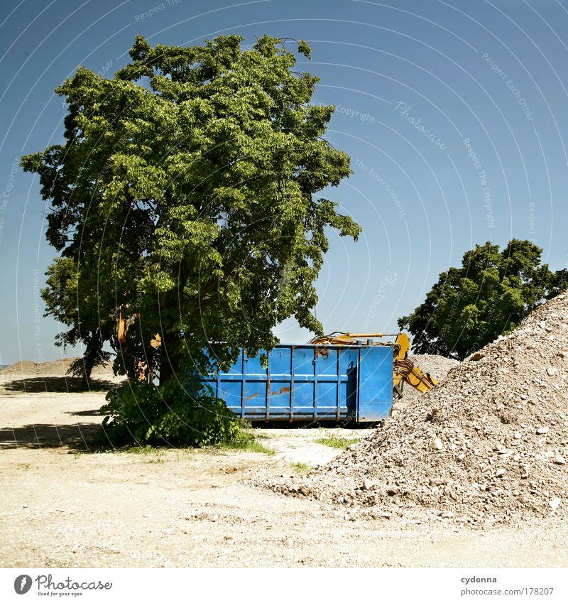Mülltrennung Natur ruhig Einsamkeit Leben Gefühle träumen Traurigkeit Landschaft planen Umwelt Perspektive Zukunft Güterverkehr & Logistik Ende