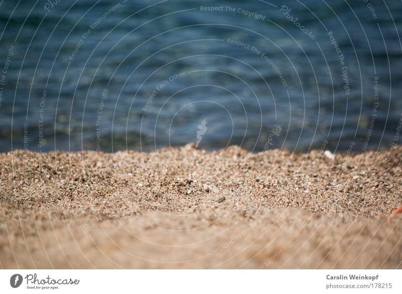 Urlaub. Sonne Meer Sommer Strand Ferien & Urlaub & Reisen Einsamkeit Ferne Erholung Freiheit Sand Wellen Tourismus Freizeit & Hobby Unendlichkeit Gelassenheit