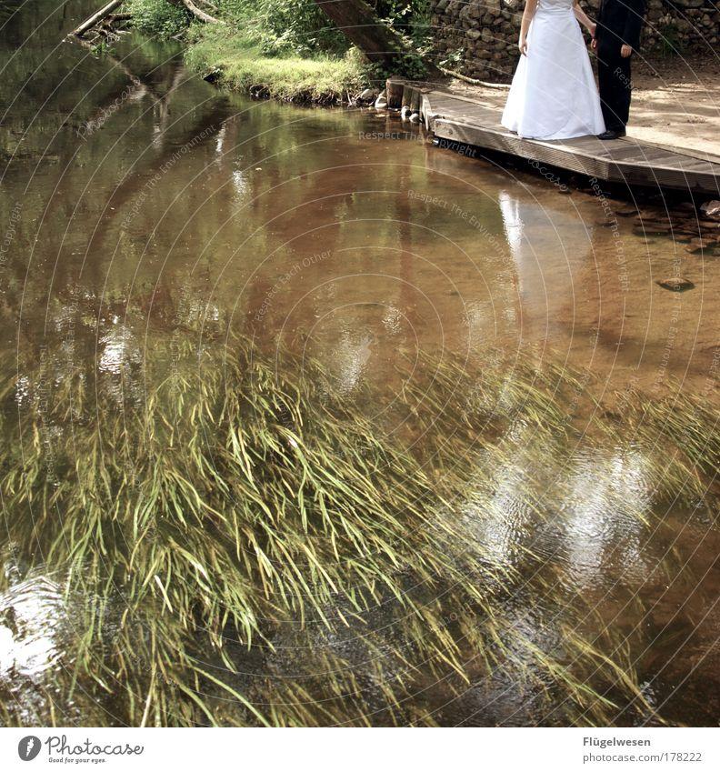 The Day After Tomorrow Erholung Glück Zusammensein Feste & Feiern frei Hochzeit Lifestyle Fluss Freizeit & Hobby Vertrauen Anzug genießen Verliebtheit Braut Ehe