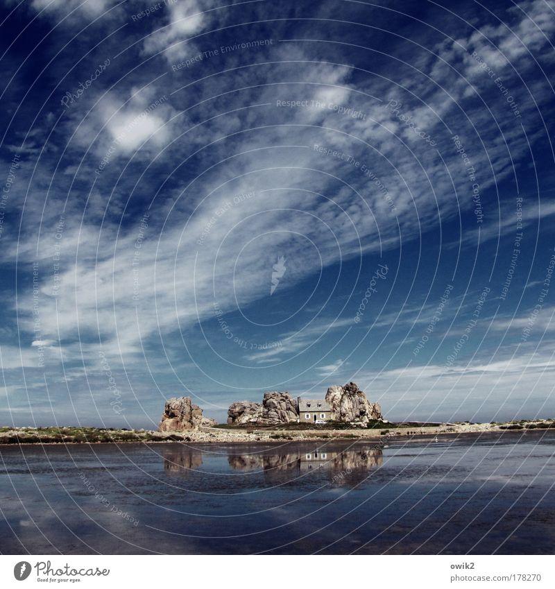 Sturmsicher Natur Wasser Himmel Meer blau Strand Ferien & Urlaub & Reisen Haus Wolken Ferne Freiheit Stein Landschaft Küste Wohnung