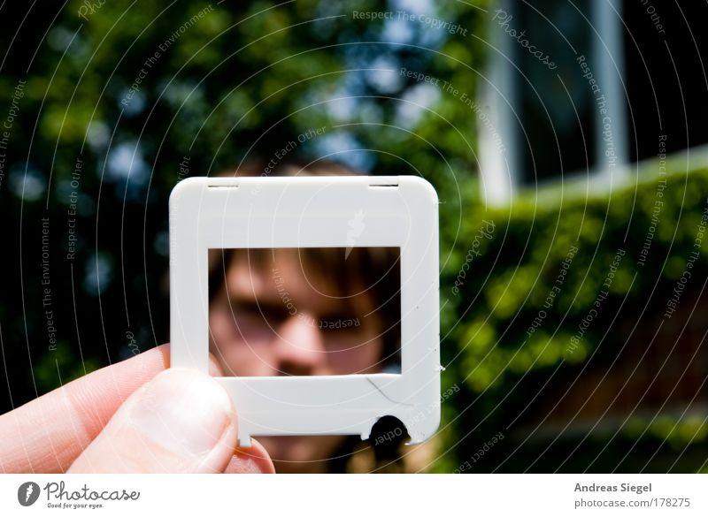 Dia-Präsentation weiß Baum Gesicht Haus Fenster Gebäude Fotografie Kunst maskulin Finger Fassade leer kaputt Freizeit & Hobby Kitsch