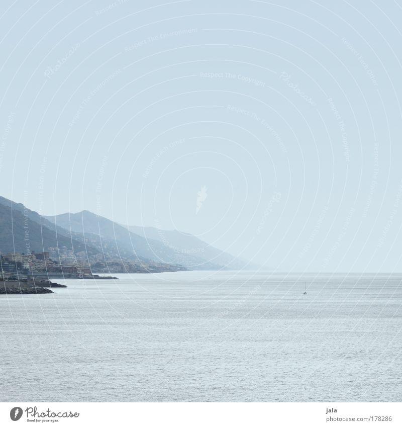 sea coast Himmel blau Ferien & Urlaub & Reisen Meer Ferne Landschaft Berge u. Gebirge Küste groß Reisefotografie Aussicht Schifffahrt Hafenstadt