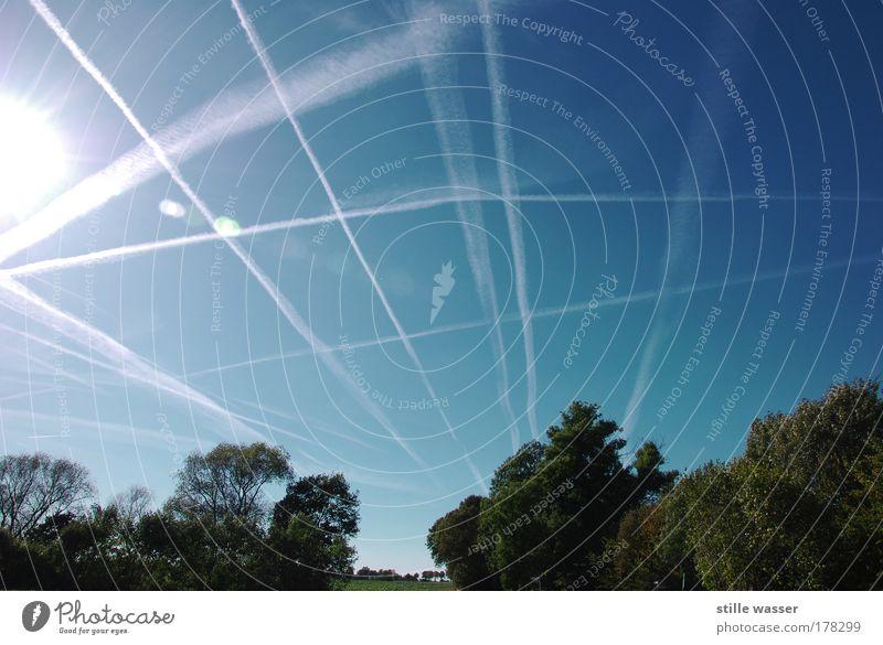 rush hour Himmel Baum Sonne Sommer Ferien & Urlaub & Reisen Wärme Landschaft Luft Feld Umwelt Verkehr Energiewirtschaft Luftverkehr Zukunft