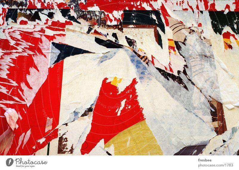 plakatwand weiß rot Wand Dinge Wildtier Dynamik Plakat Fetzen