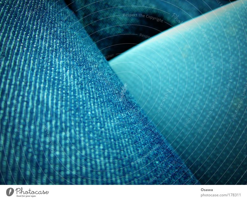 Jeans blau Bekleidung Jeanshose Hose Stoff Jeansstoff diagonal Textilien Faser Querformat