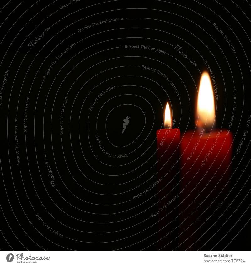 Couple rot Lampe Leben dunkel Kerze Tod Wärme hell Kraft Feuer Trauer Ende leuchten stark Skulptur Zusammenhalt