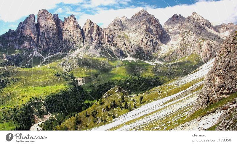 dolomiten geisler spitzen Himmel Natur Ferien & Urlaub & Reisen Wolken ruhig Ferne Erholung Freiheit Berge u. Gebirge Landschaft Umwelt Ausflug Tourismus Alpen Gipfel entdecken