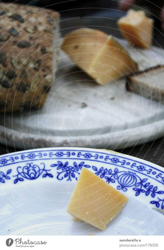 Bauernfrühstück Freude Ernährung Holz Glück Kraft Lebensmittel Armut Geschirr Brot genießen Teller Picknick Abendessen Backwaren Käse Teigwaren