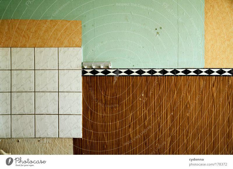 Ordnung muss sein! ruhig Einsamkeit Farbe Leben Wand Stil träumen Traurigkeit Mauer Raum planen Design Zeit ästhetisch Wandel & Veränderung