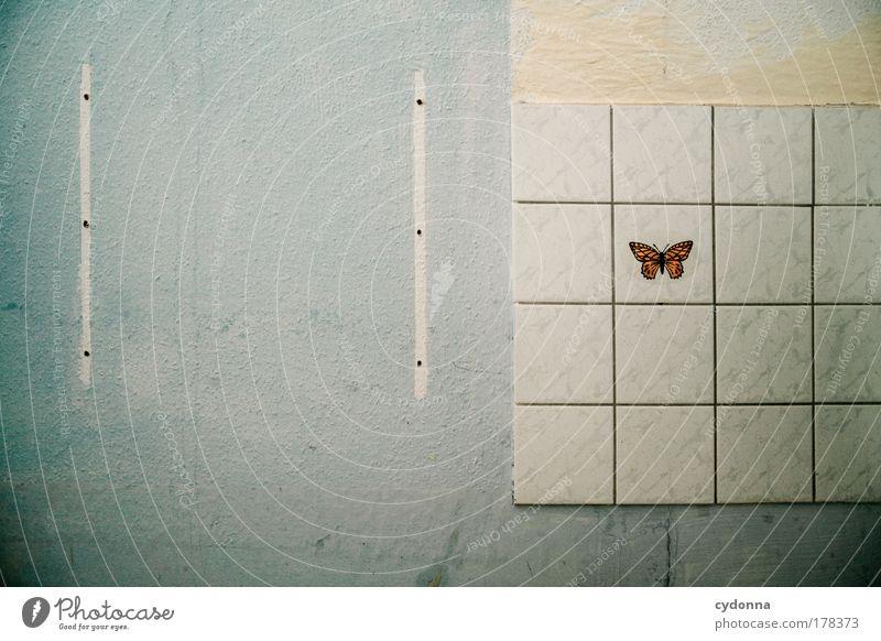 Ausgeflogen schön ruhig Einsamkeit Leben Wand träumen Traurigkeit Mauer Wohnung Zeit Perspektive ästhetisch Wandel & Veränderung Dekoration & Verzierung Vergänglichkeit einzigartig