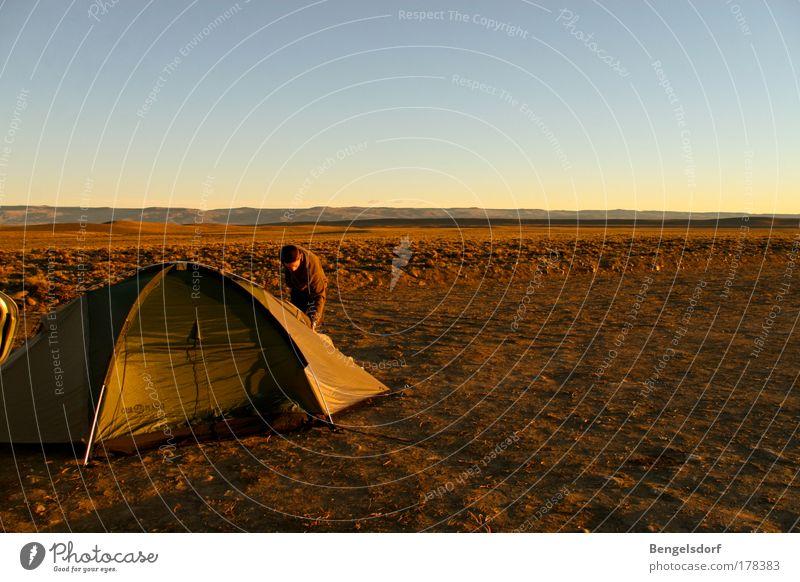 Mondlandung Erholung ruhig Freizeit & Hobby Ferien & Urlaub & Reisen Tourismus Ausflug Abenteuer Ferne Freiheit Expedition Camping Sommer Sonne 1 Mensch Sand