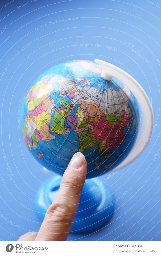 Globus_1783896 Ferien & Urlaub & Reisen Reisefotografie Erde lernen Asien zeigen Indien Englisch Schulunterricht international global Zeigefinger Geografie