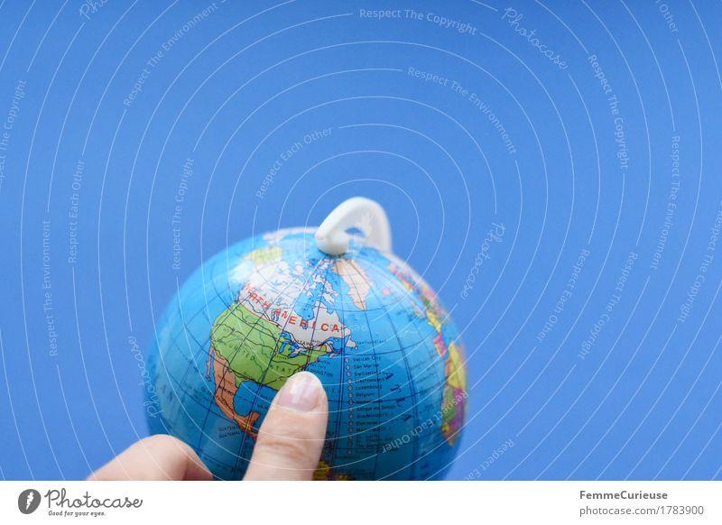 Globus_1783900 Erde Ferien & Urlaub & Reisen Regierungssitz Washington DC USA Amerika Nordamerika Zeigefinger Wahlkampf Globalisierung US-Dollar international